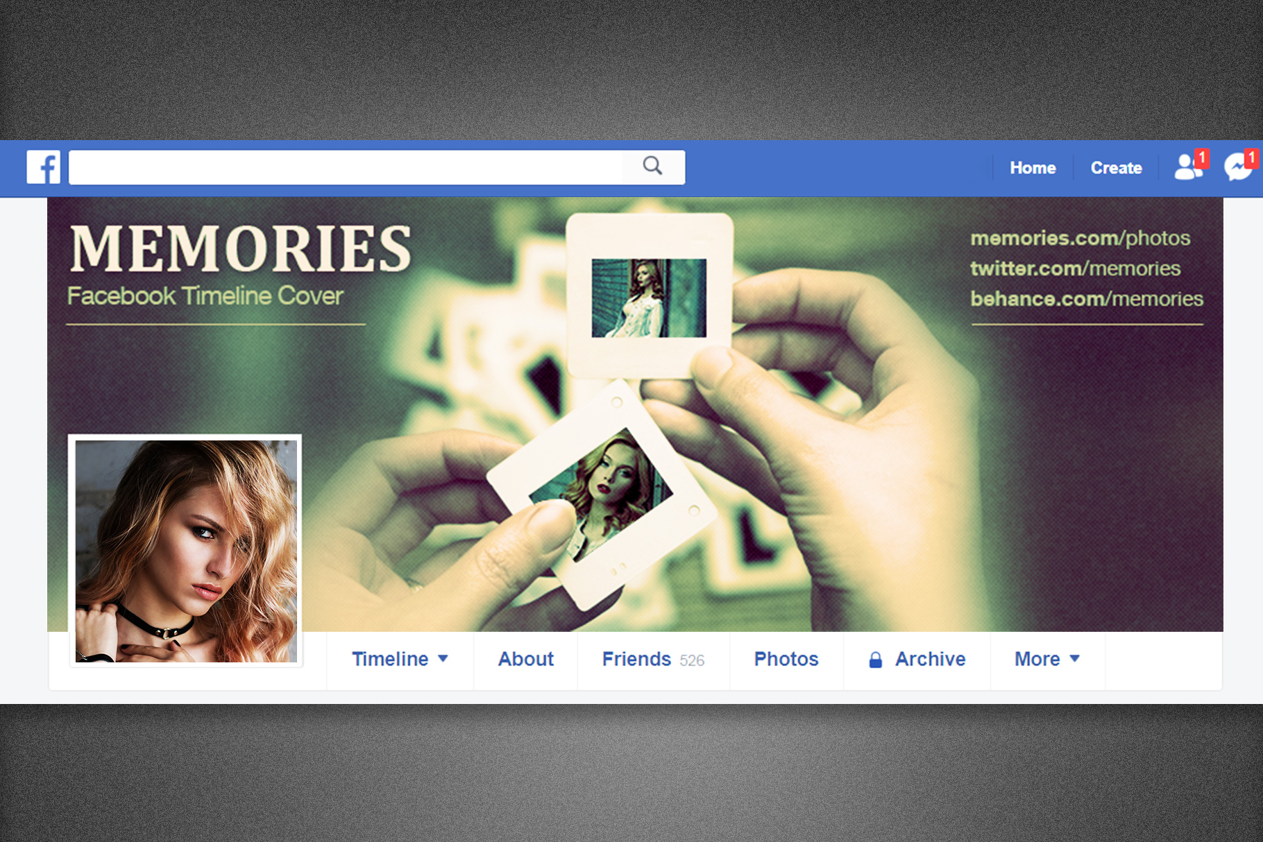 Memories Facebook Timeline Cover example image 2