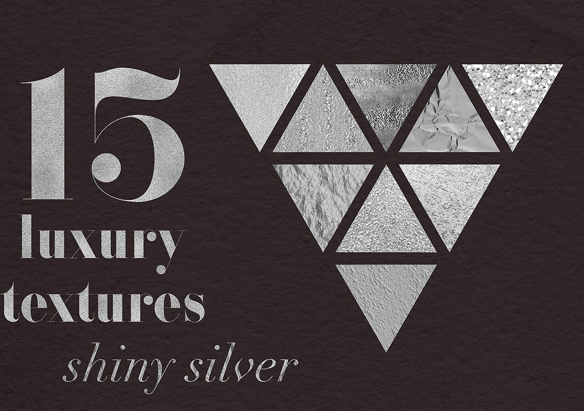 Luxury Silver Textures example image 1