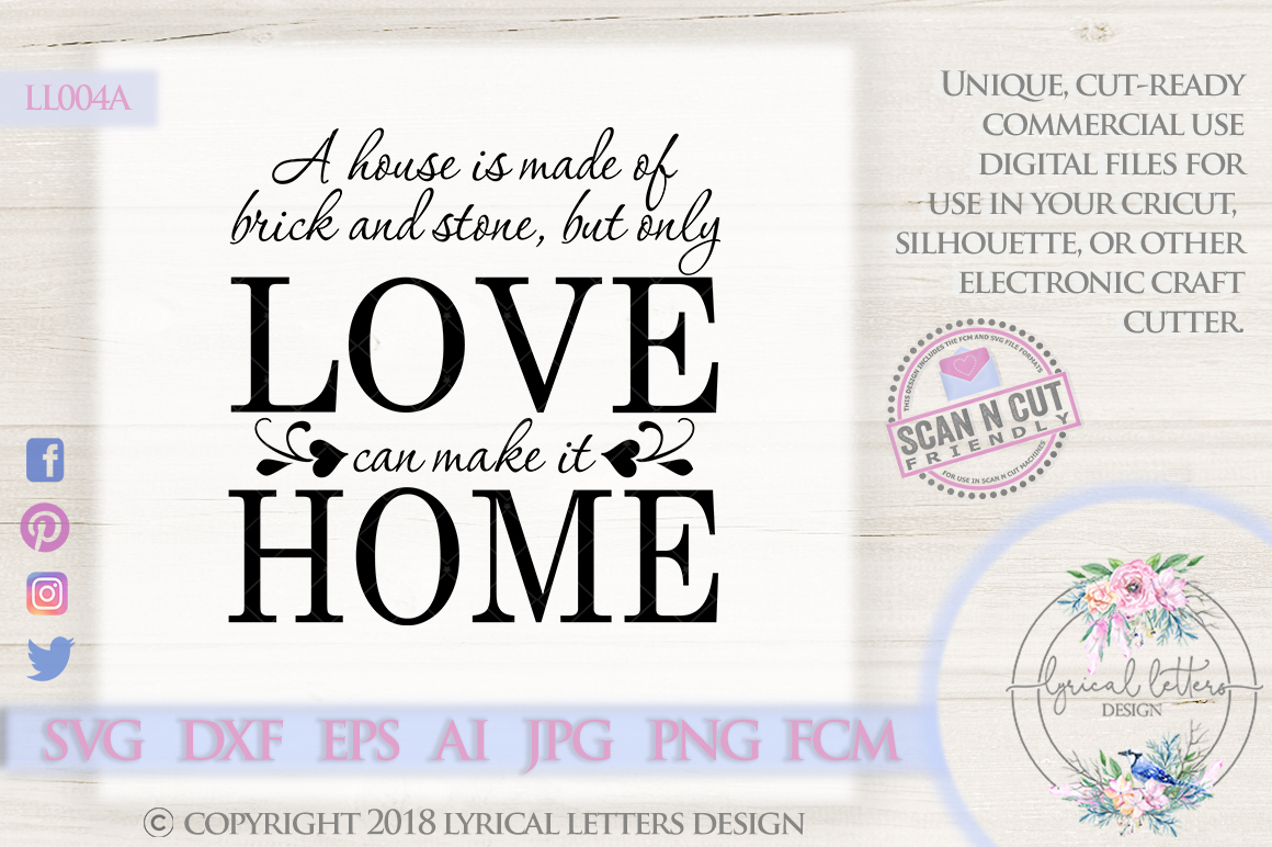 A House is Made of Brick and Stone SVG Cut File LL004A example image 1