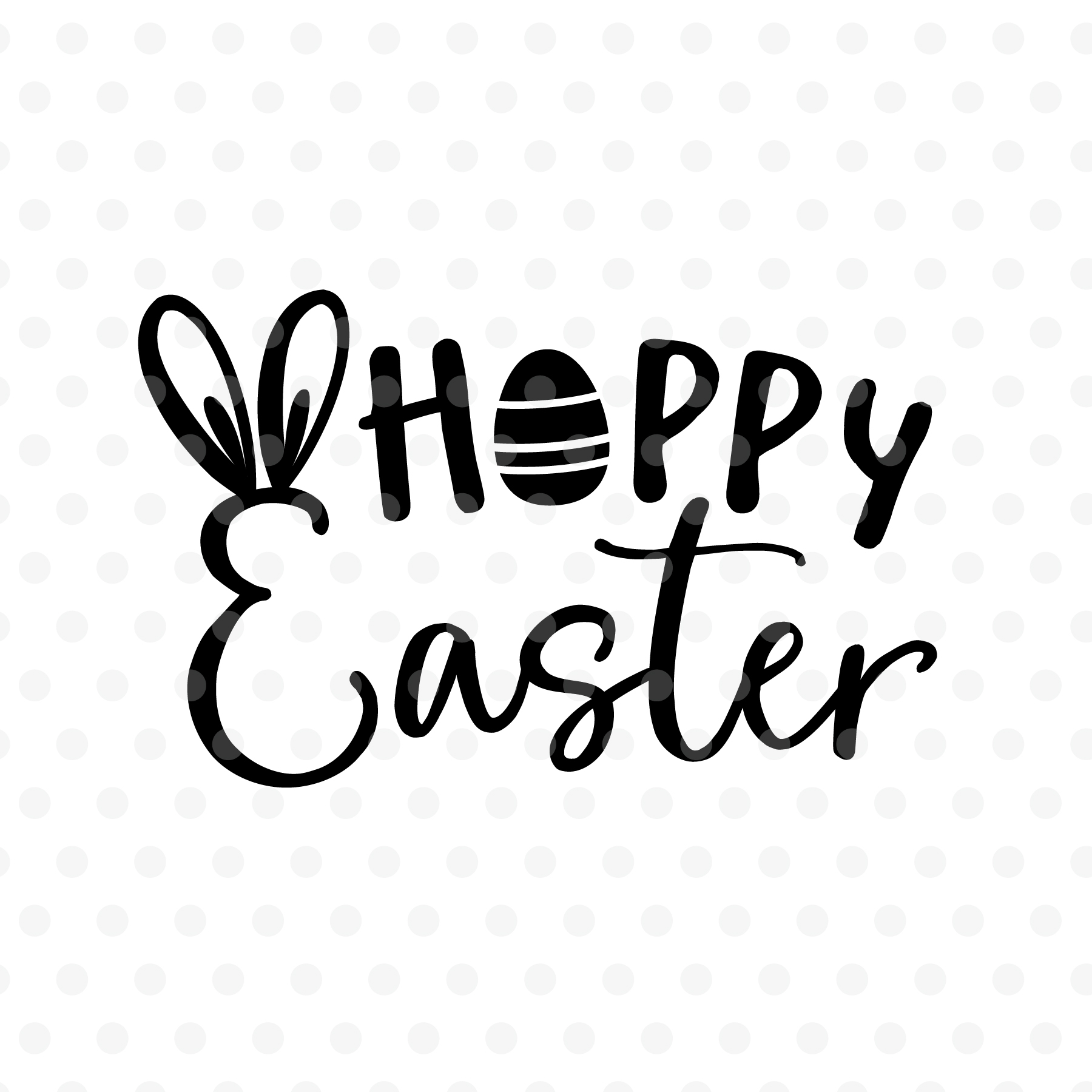 Hoppy Easter SVG, EPS, PNG, DXF example image 2
