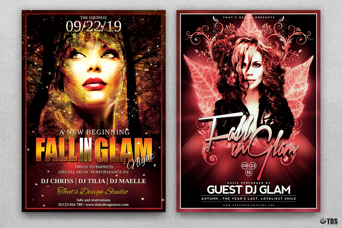 Fall in Glam Flyer Bundle V1 example image 2
