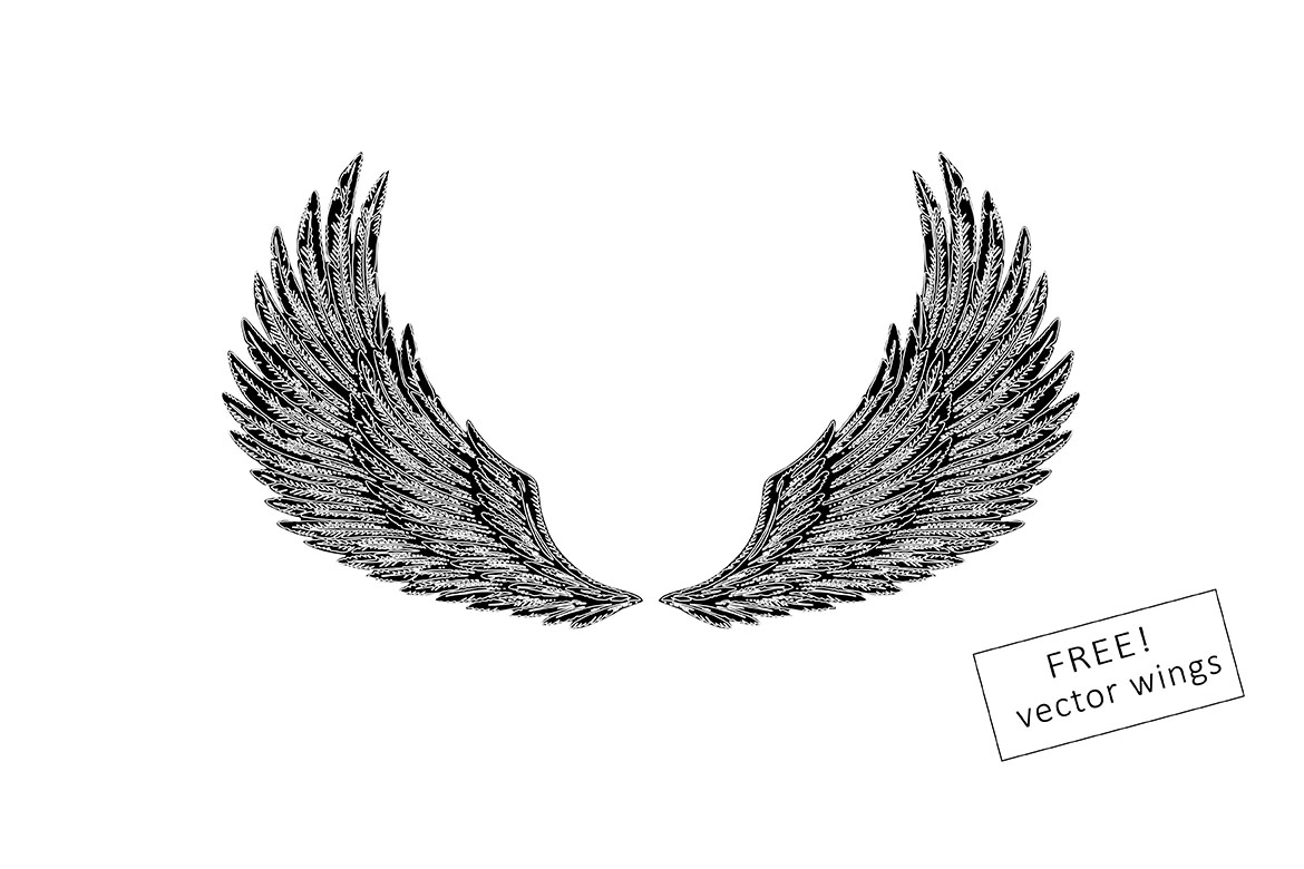 ANGEL SIGNATURE | free wings vector example image 8