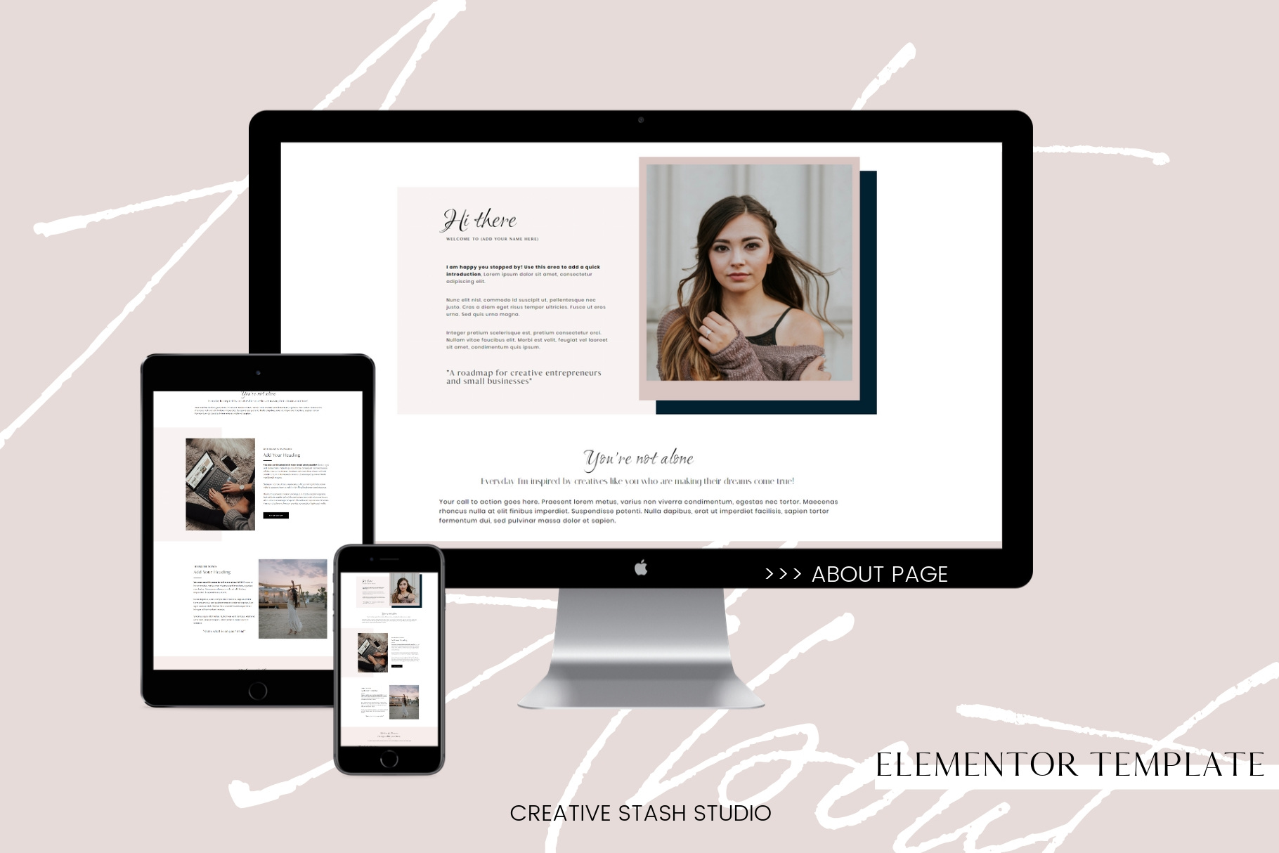 About page for Elementor example image 1