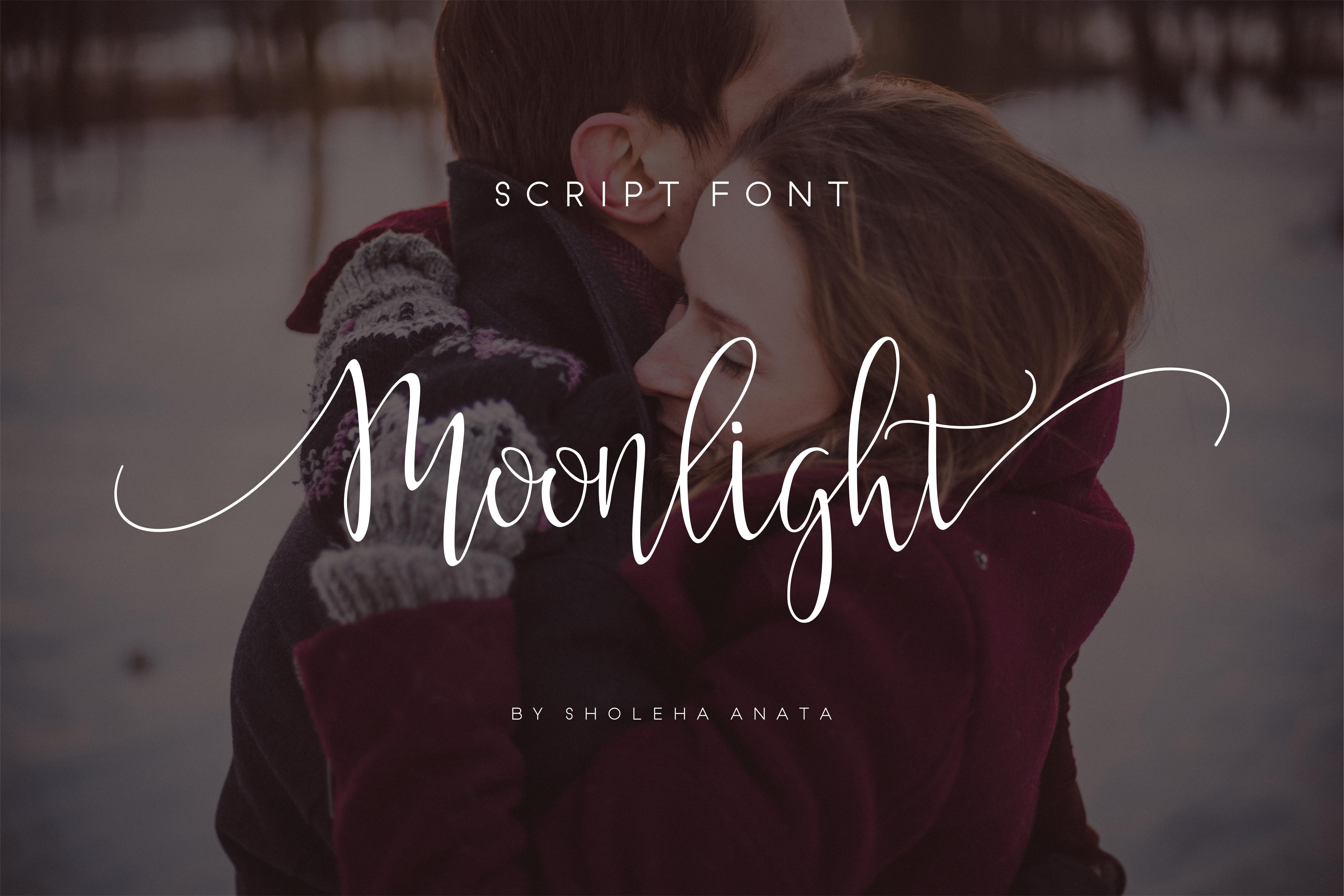 Moonlight Script Font example image 10