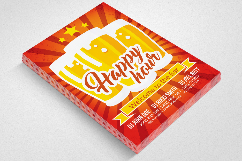 Happy Hour Flyer Template example image 3