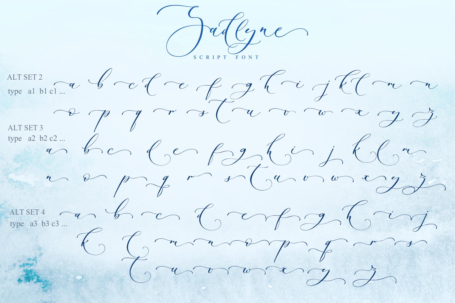 Sadlyne calligraphic font & extras example image 16