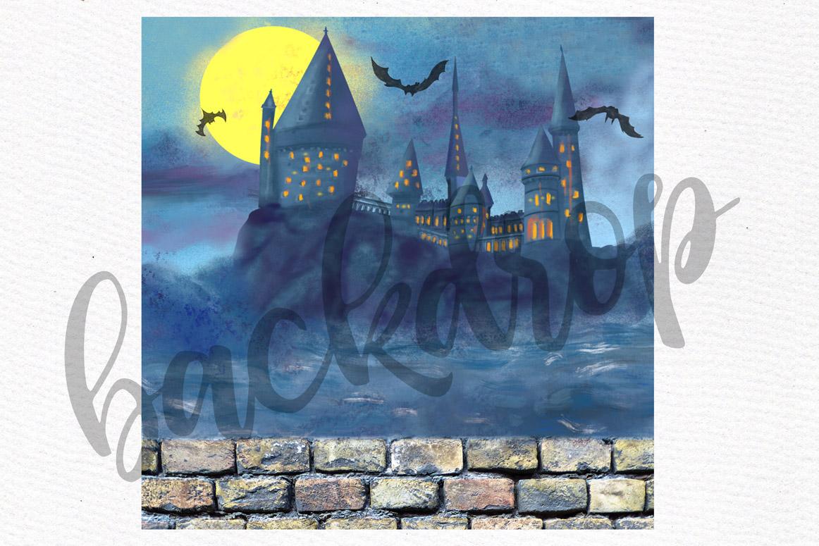 Wizard Girls, Castel Landscape, Dog clipart Wizard friends example image 9