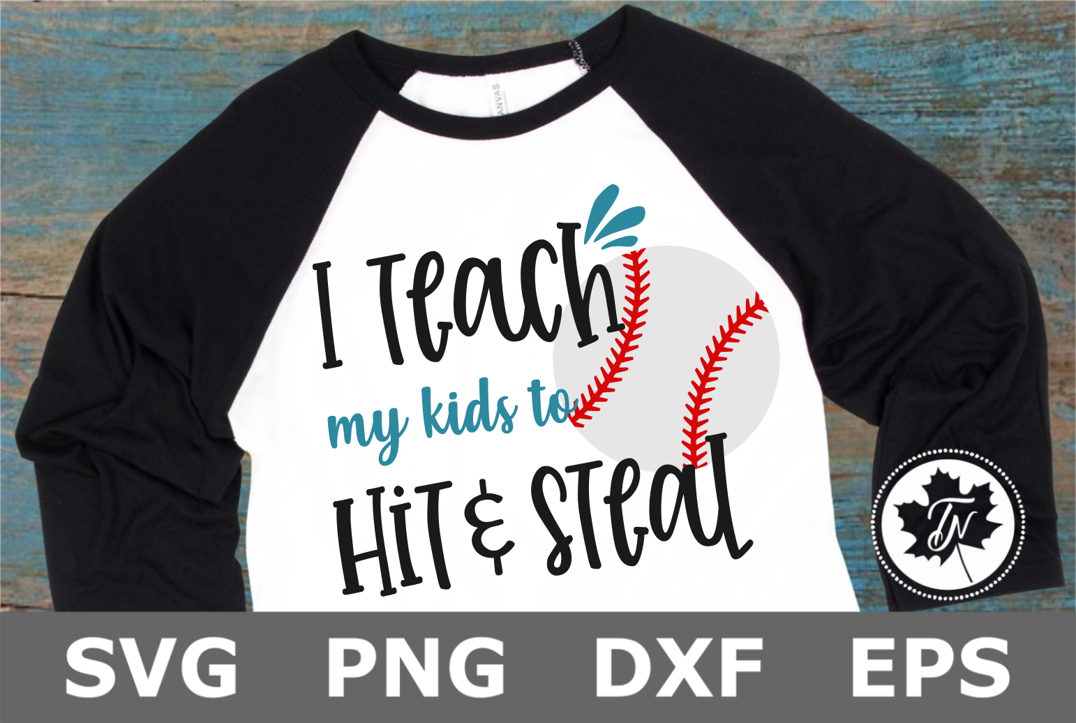 Teach my Kids to Hit and Steal - A Sports SVG Cut File example image 1