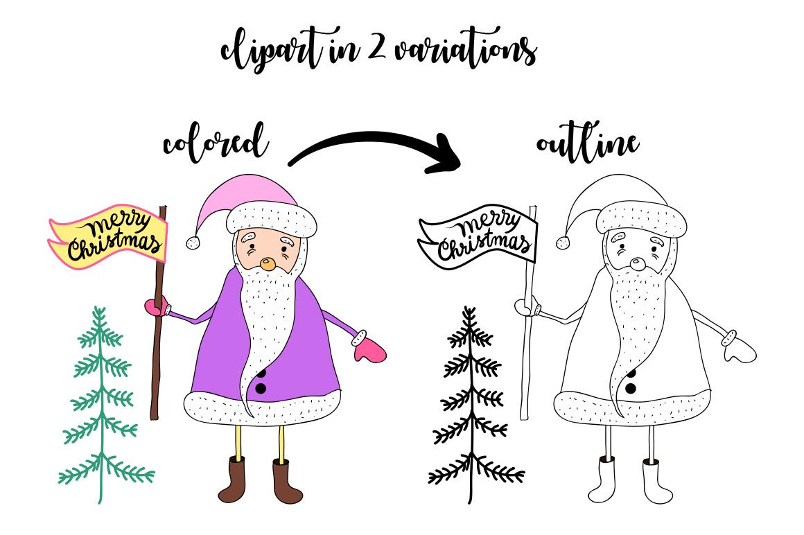 Christmas Hollidays set. example image 7