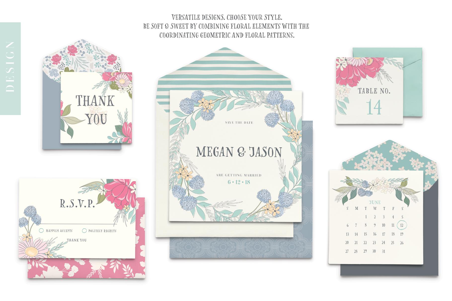 Floral Pattern Design Set example image 7