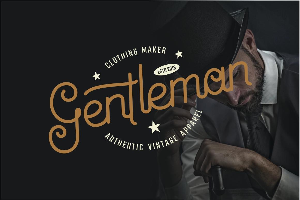 Antiqueline - Monoline Typeface example image 2