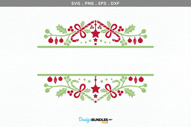 Ornaments Split Monogram - svg, printable example image 2