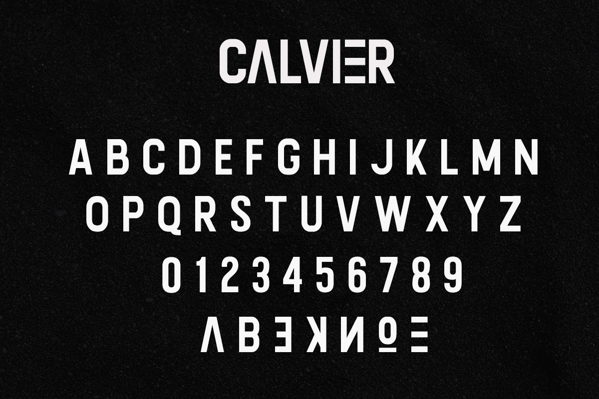 Calvier - Headline Sans Family example image 6