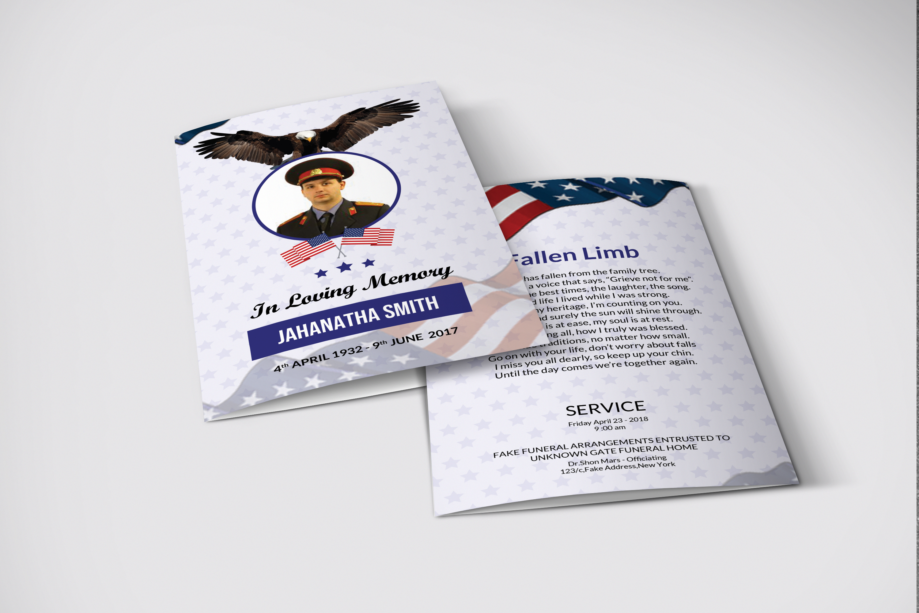 Funeral Program Template Military Army example image 3