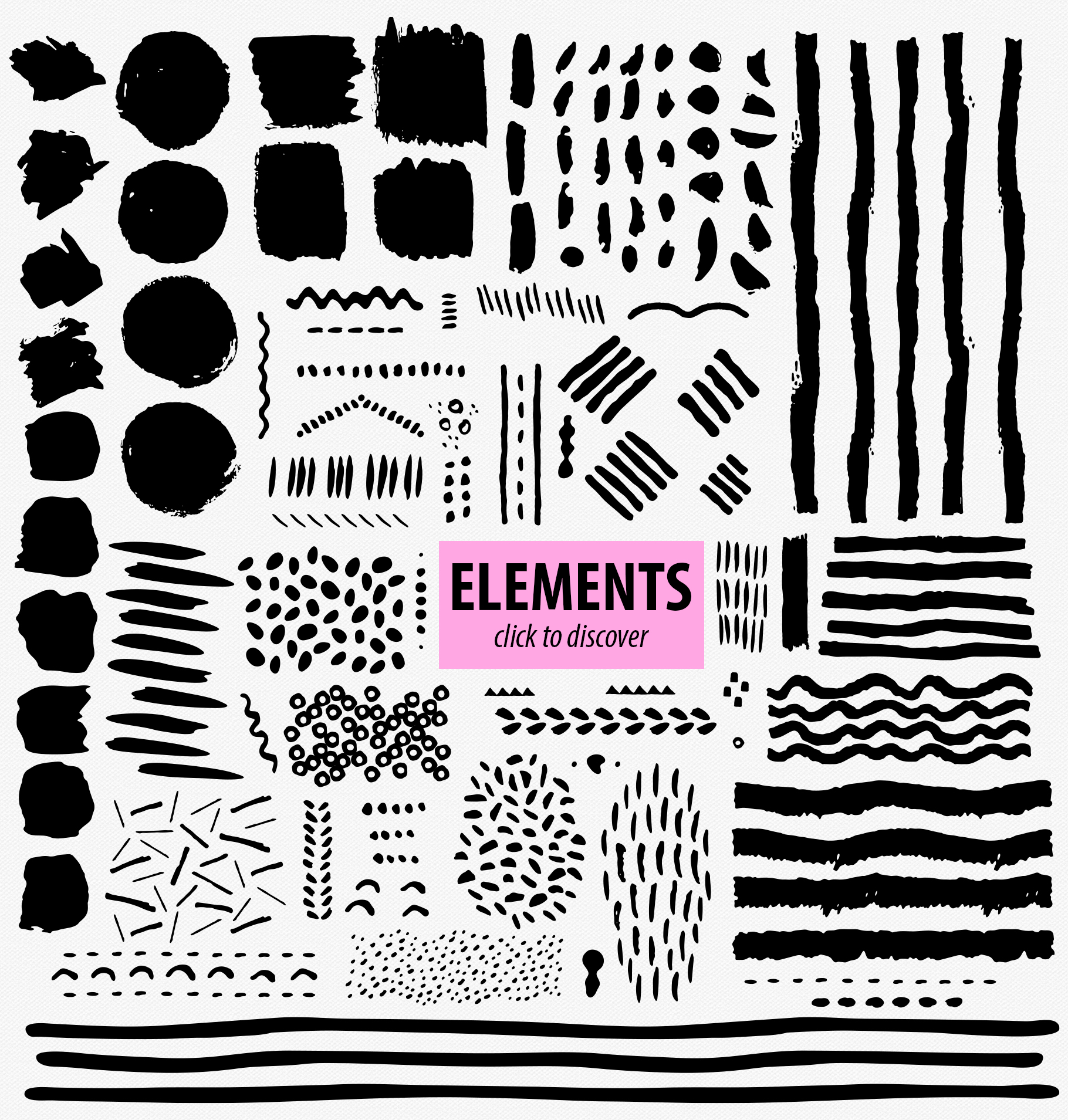 Abstract Brushstroke Ink Patterns, Artboards & Elements example image 16