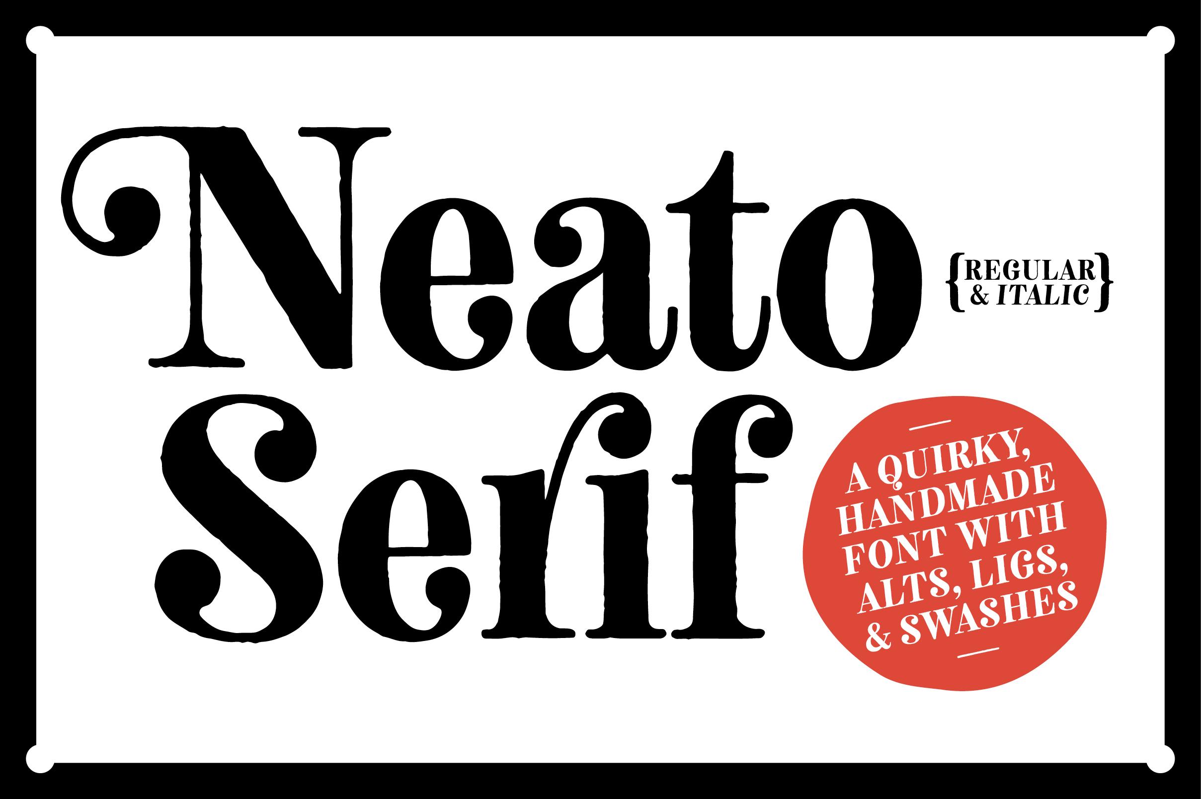 Neato Serif Font Family example image 1