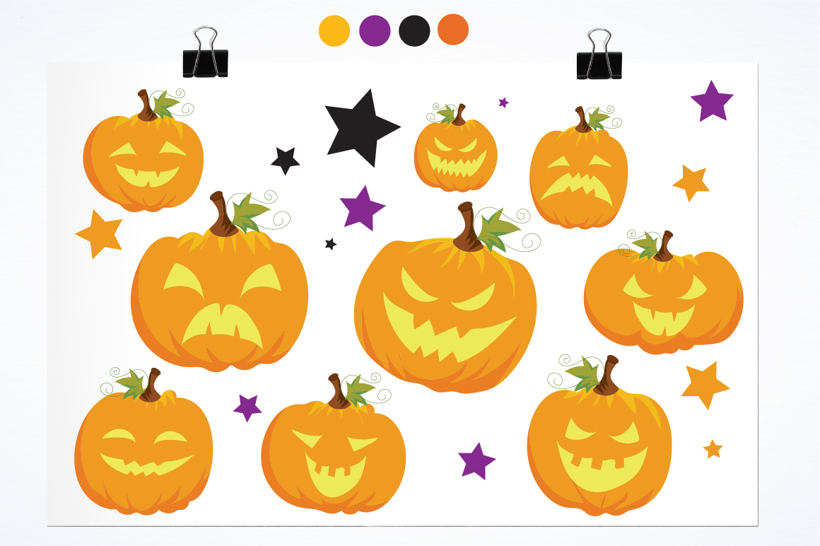 Halloween Pumpkins graphics and illustrations example image 2