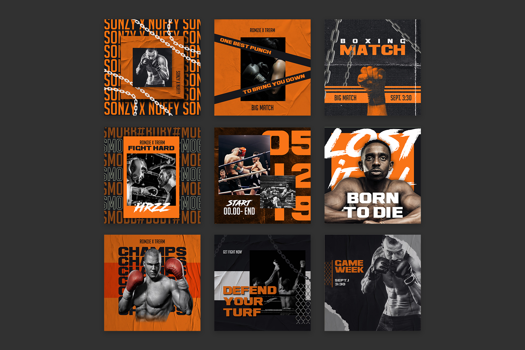 Boxing Instagram Templates example image 6