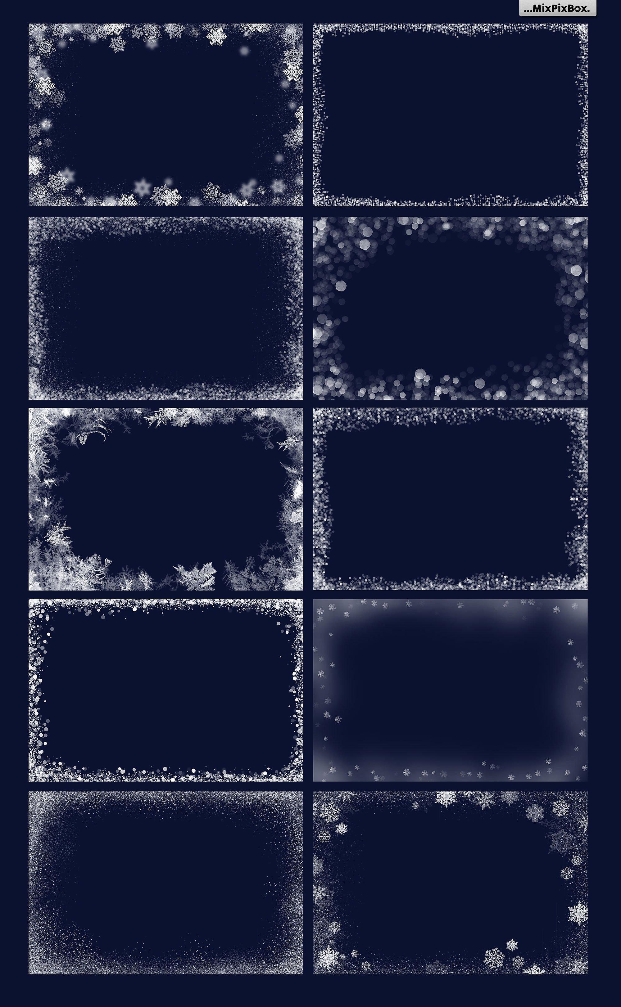 20 Christmas Photo Overlays example image 5