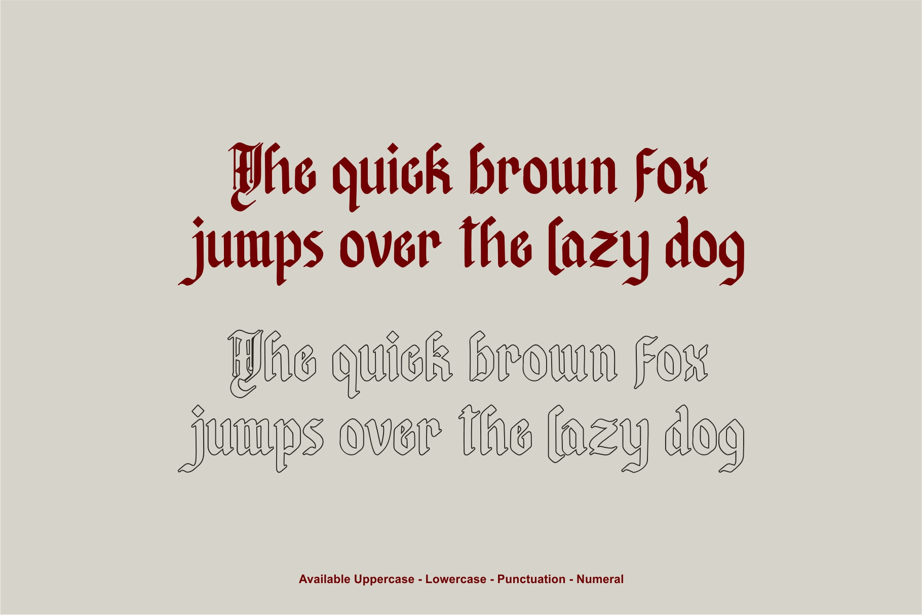 Afterkilly - New Blackletter example image 4