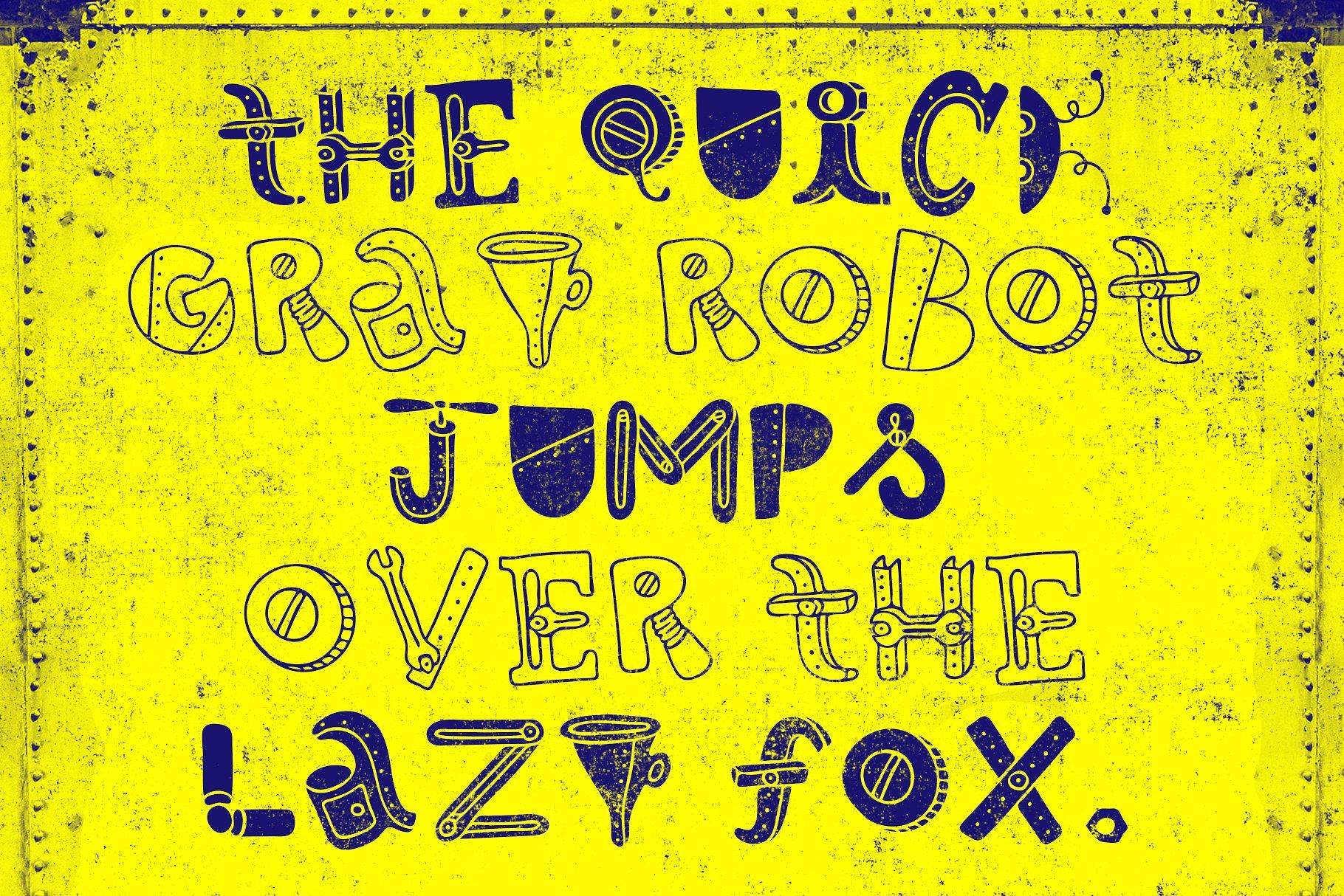 Robotikka Typeface example image 4