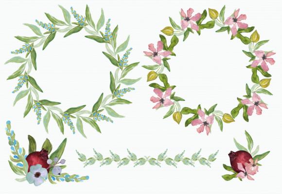 Watercolor Pomegranate Clip Art example image 3
