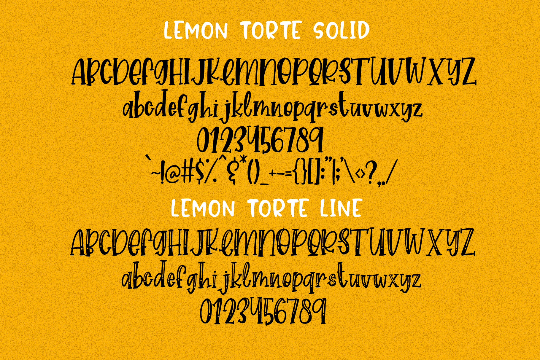 Lemon Torte - Crafty Font duo Solid & Line example image 10