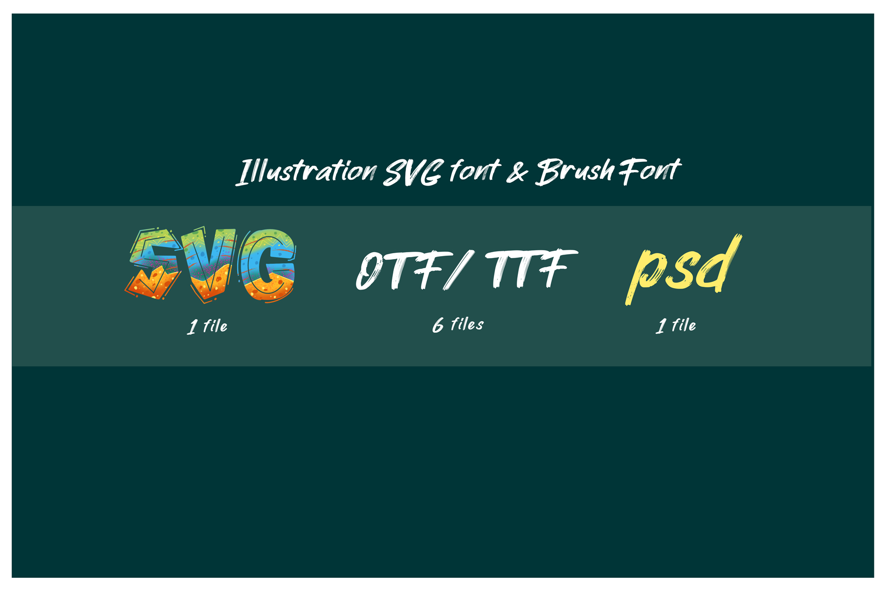 ROCK on RAWK | SVG Font Duo example image 4