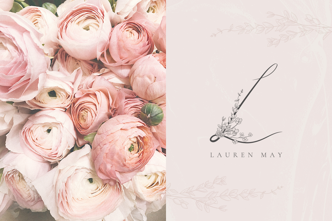 Flowered Monogram & Logo Collection example image 12