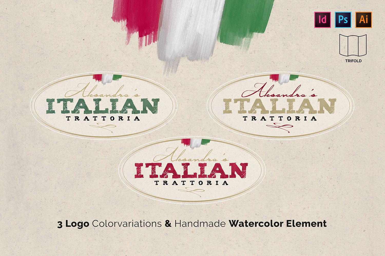 Italian Trattoria Menu & Logo example image 2