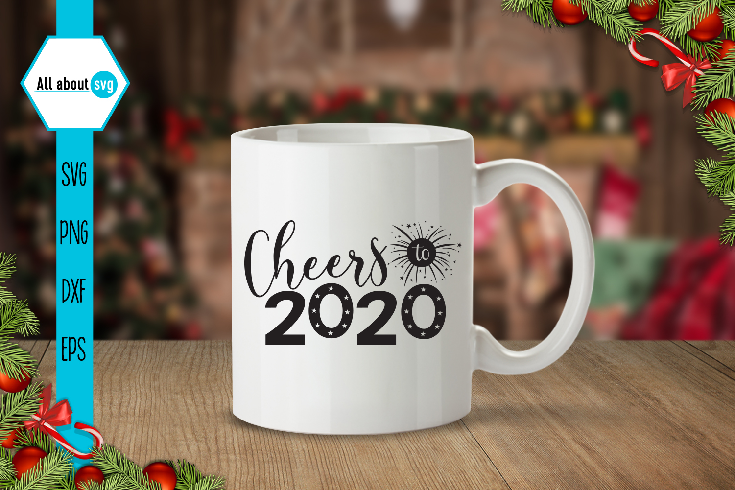 Cheers To 2020, New Year Svg example image 4