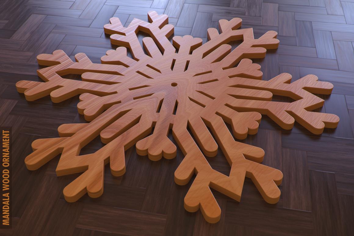 100 Christmas Mandala Ornaments example image 20