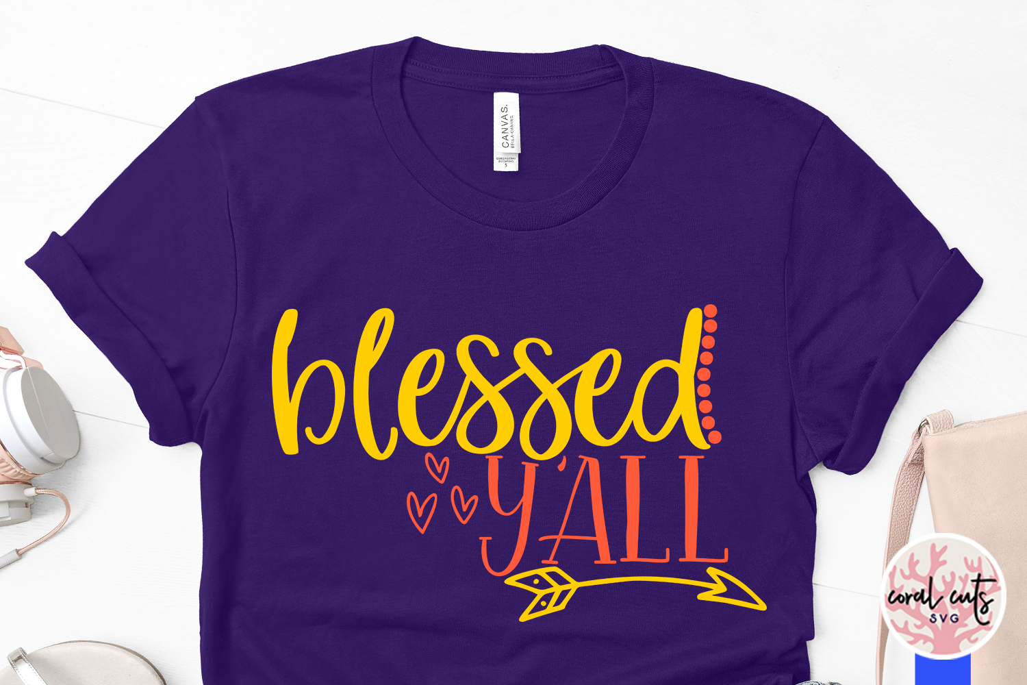 Blessed y'all - Easter SVG EPS DXF PNG Cutting File example image 3