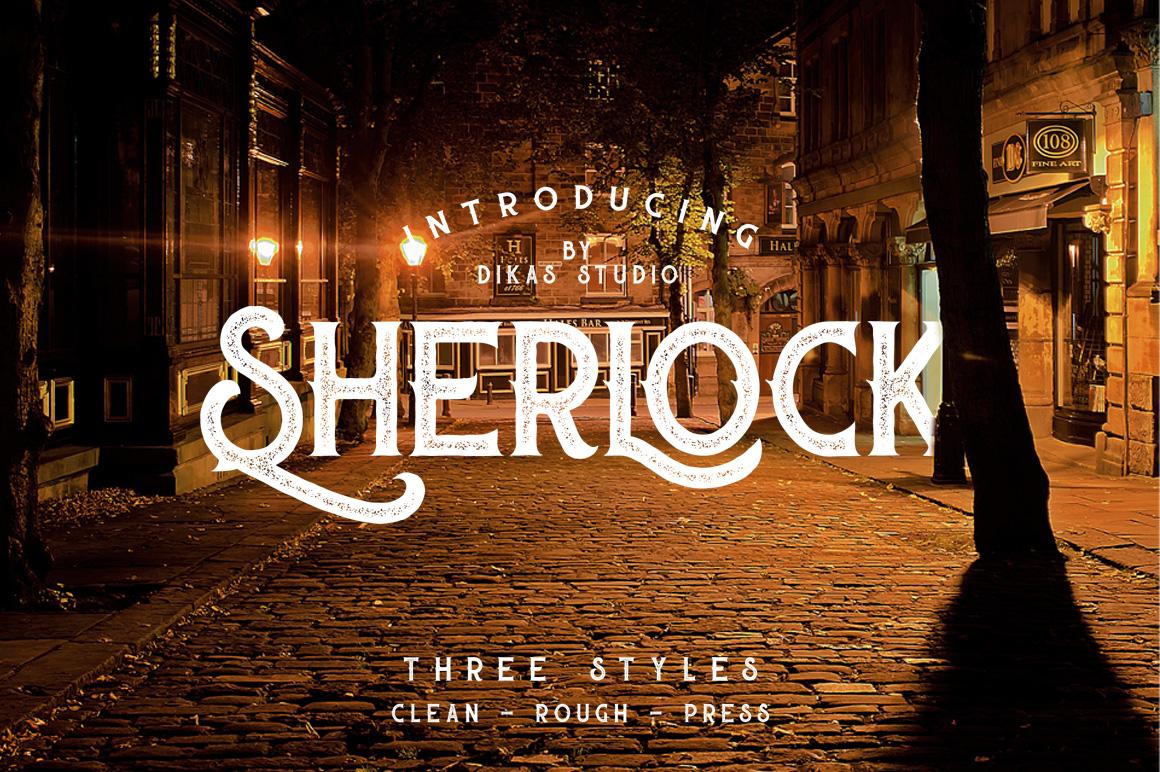 Sherlock Typeface - 3 Font Styles example image 1