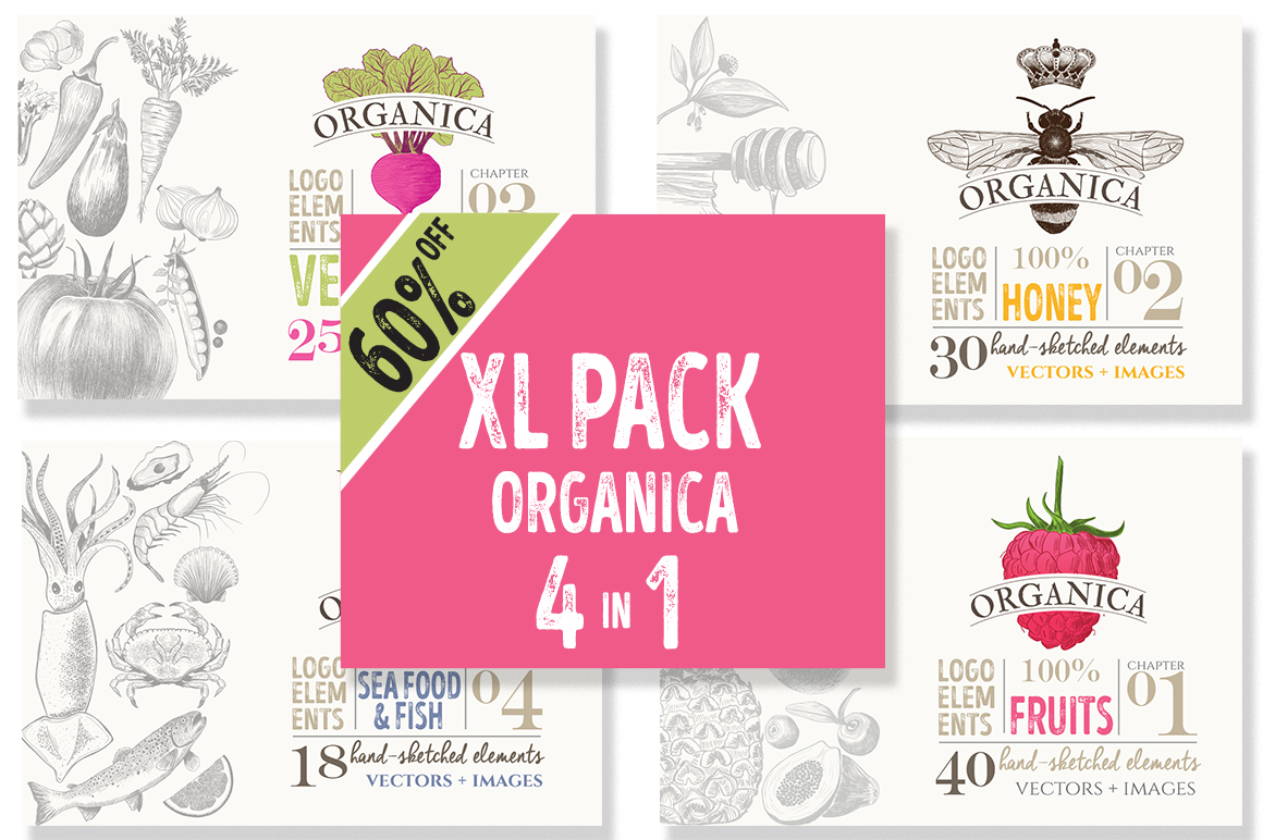 4 IN 1 ORGANIC LOGO ELEMENTS 60% OFF example image 2