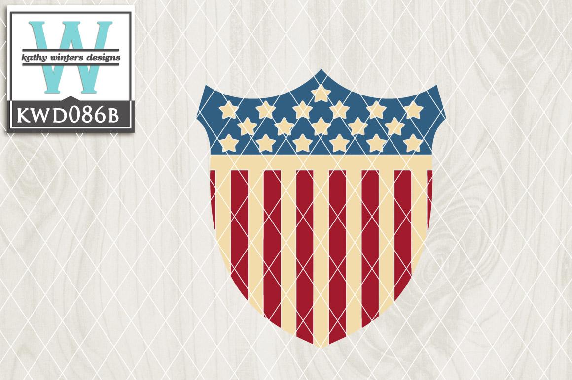 Patriotic Cutting File KWD086B example image 1