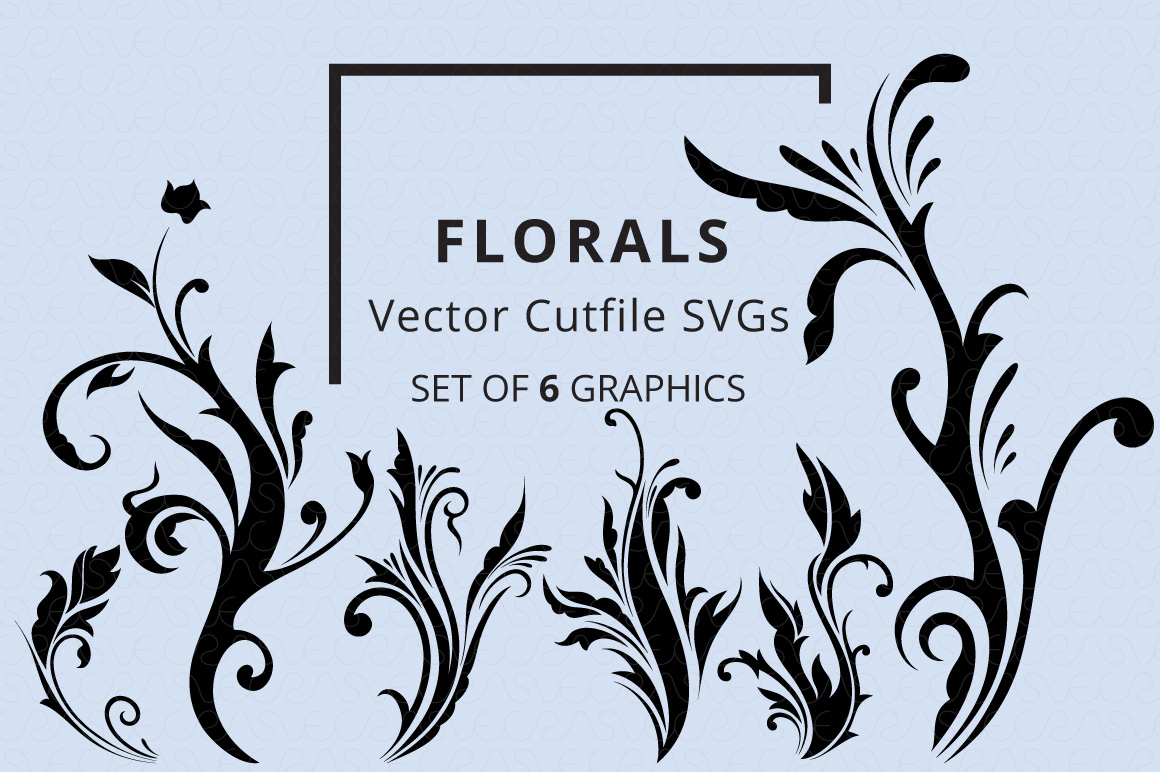 SVG Florals Cutfiles Bundle Pack of 270 vector graphic shape example image 2