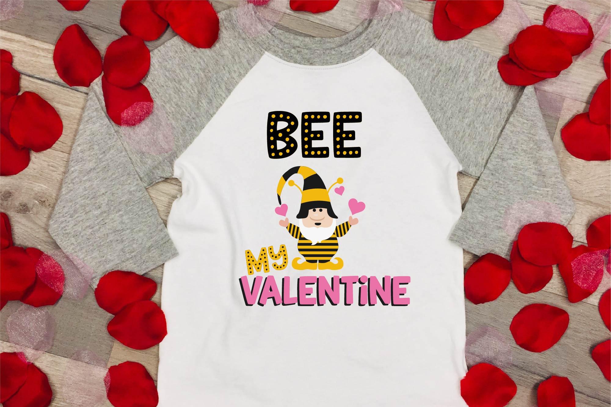 Valentine's Day SVG Valentine Gnome Bee My Valentine SVG example image 2