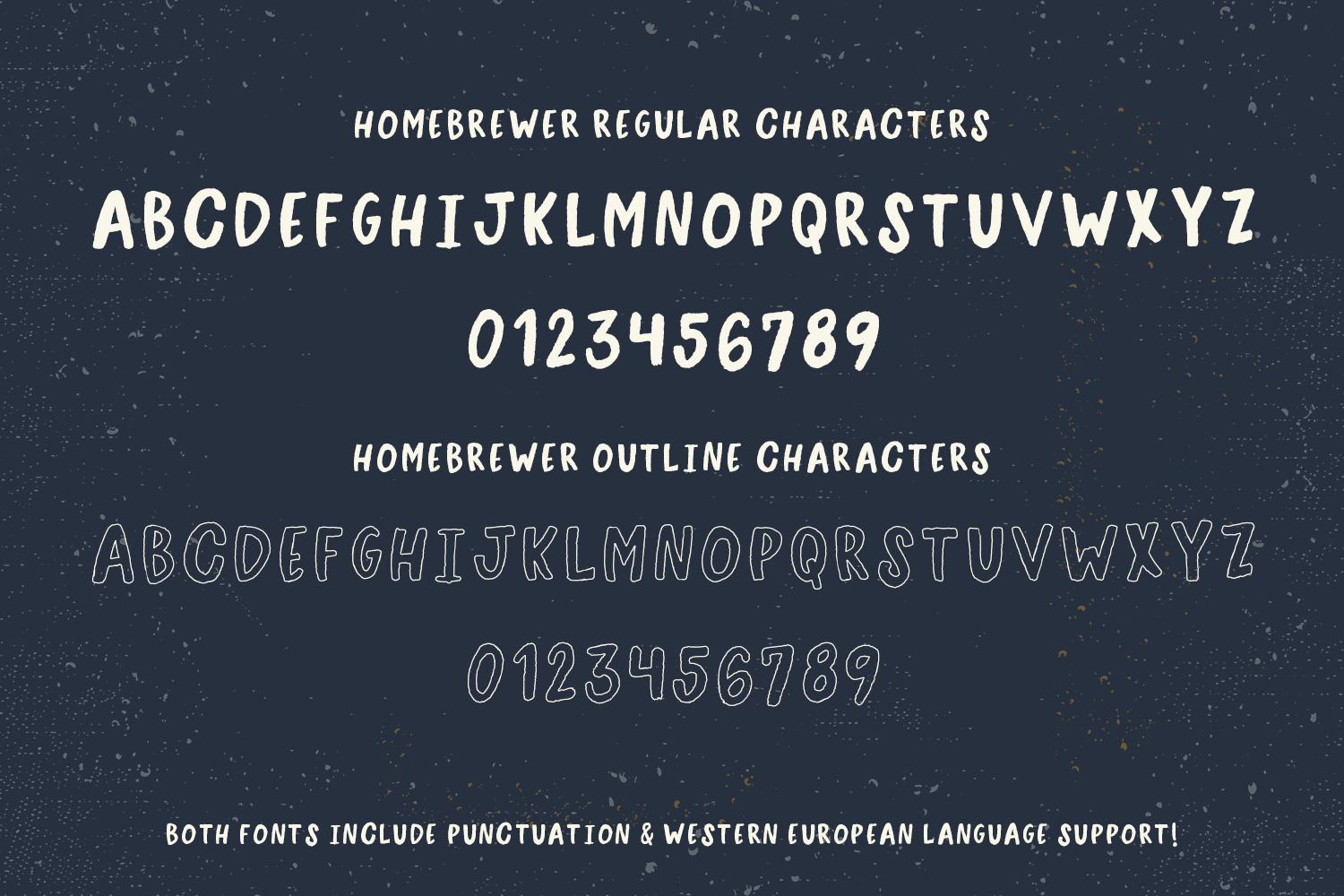 Homebrewer Sans and Outline Font Duo example image 3