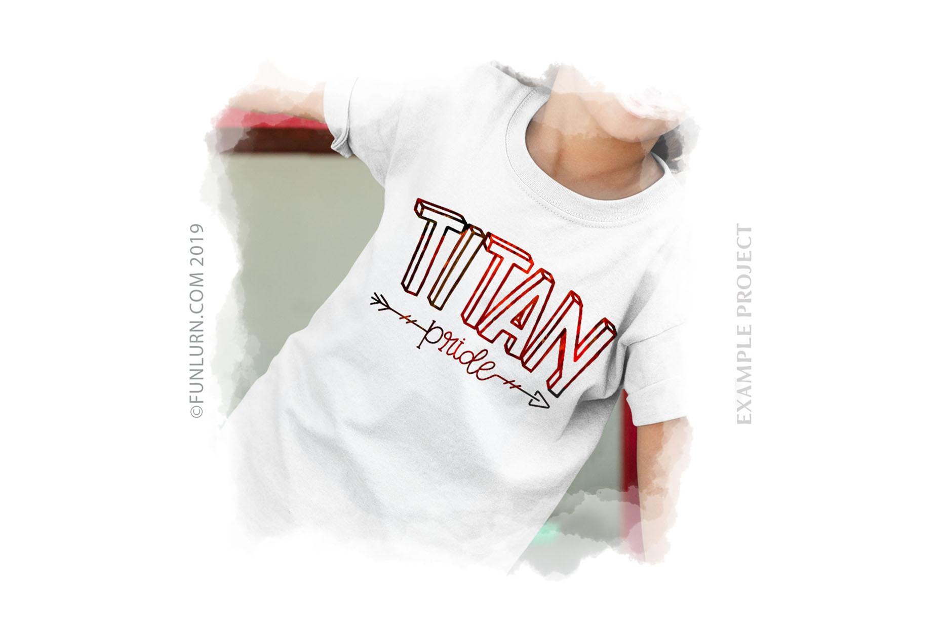 Titan Pride Team SVG Cut File example image 3
