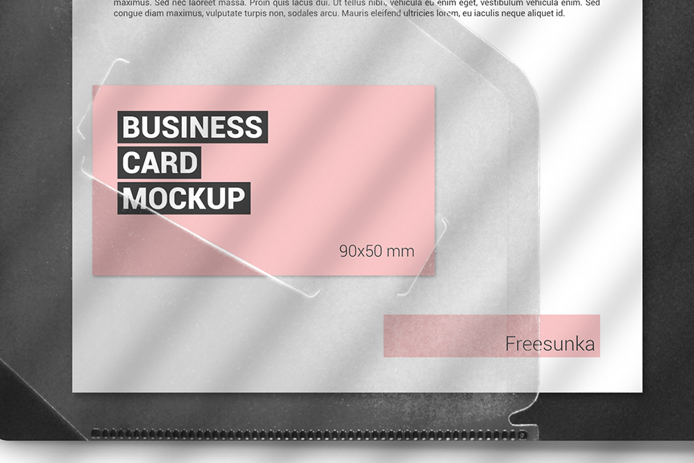 A5 Papers In Plastic Folder Scene Mockup example image 2