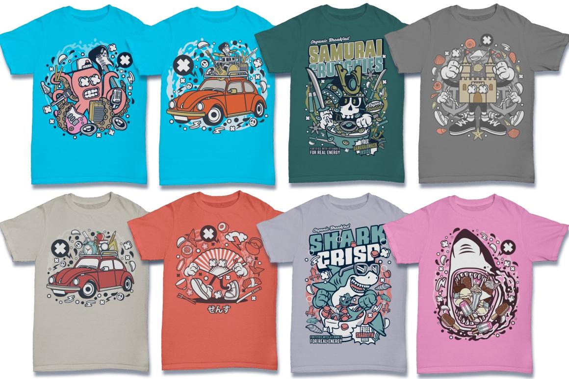 Cartoon Vector #6 Tshirt Design Bundle example image 22