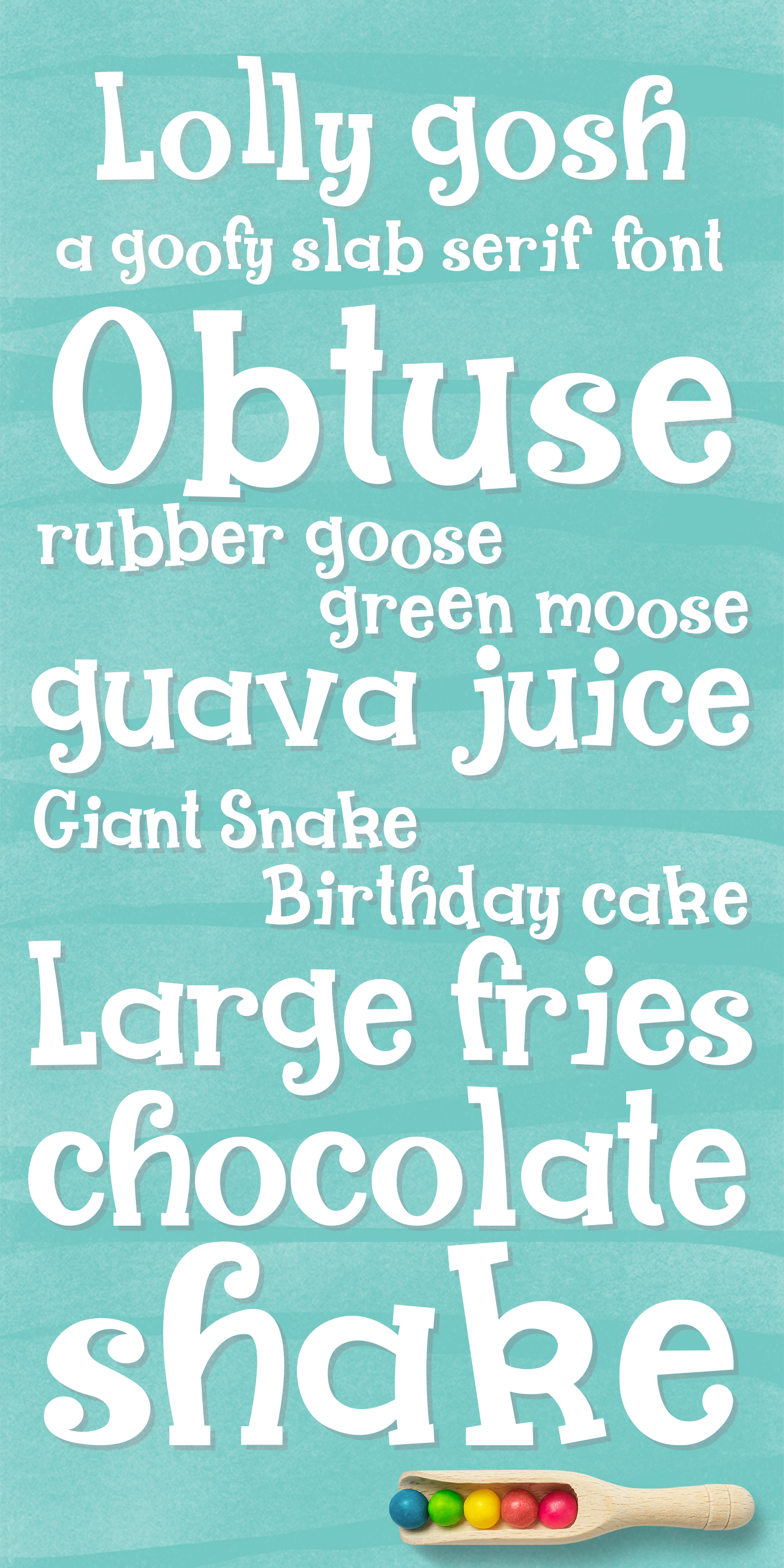 Lolly Gosh - a goofy slab serif font example image 2