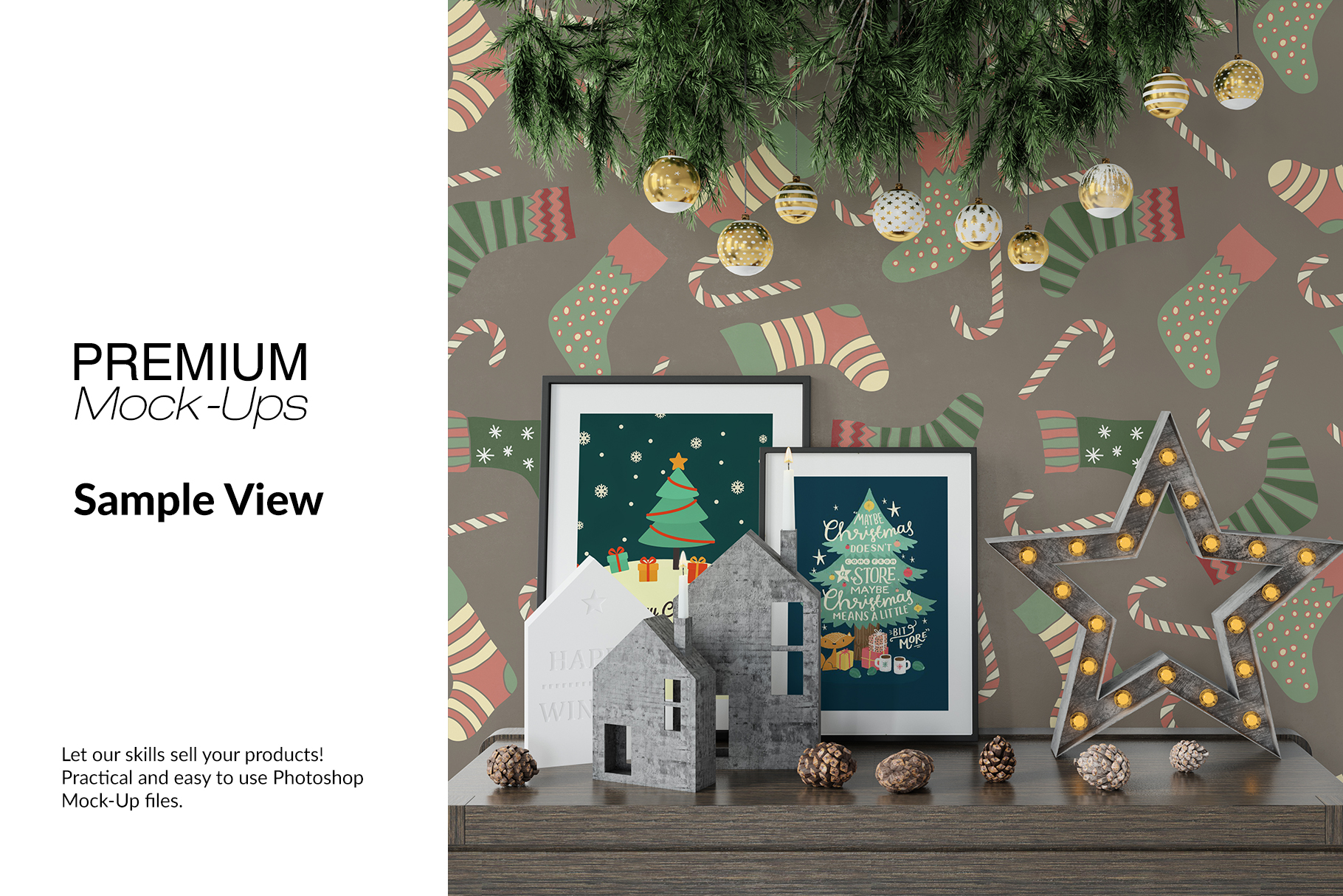 Christmas Frames & Wall Set example image 13
