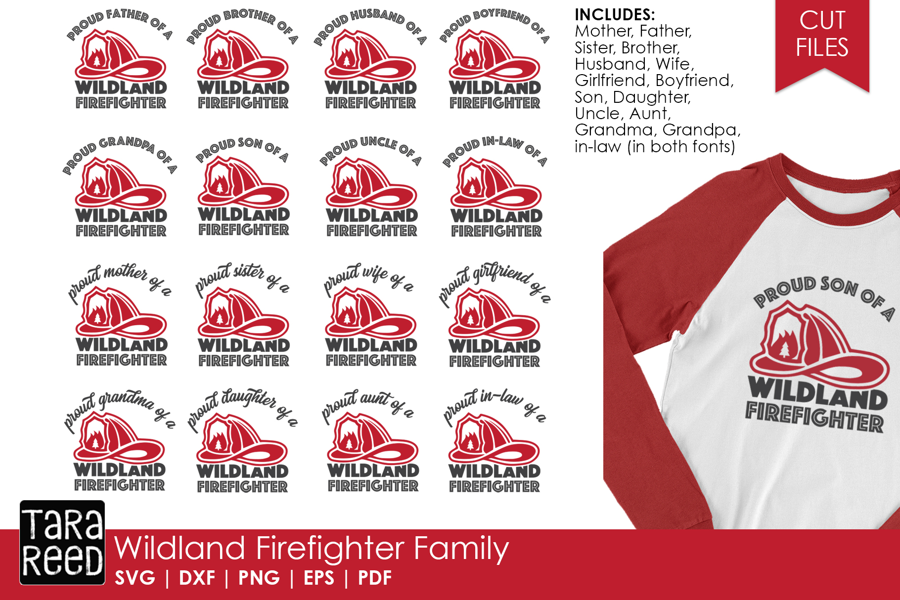 Wildland Firefighter Family - Firefighter SVG and Cut Files example image 1