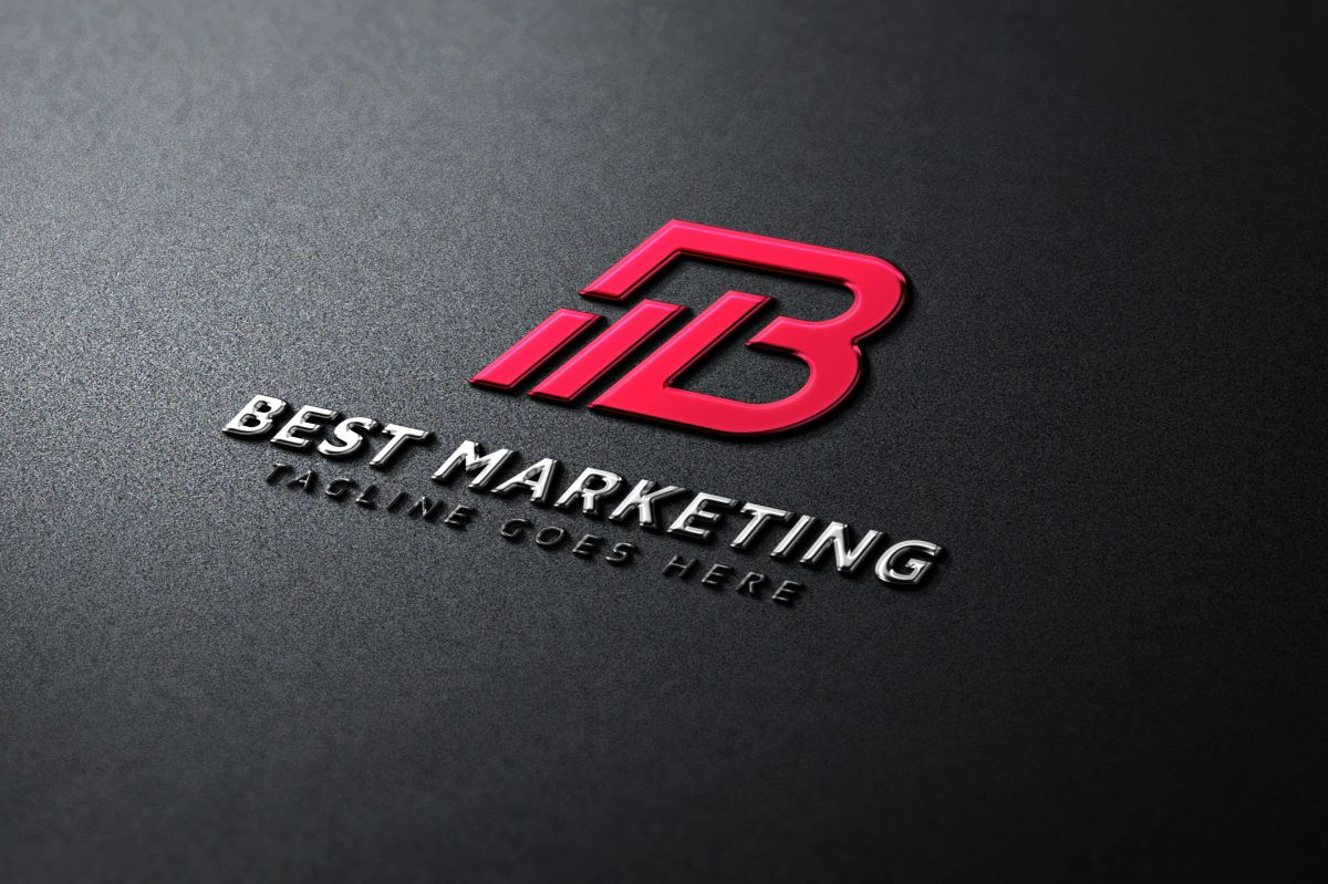 Best Marketing B Lettre Logo example image 1