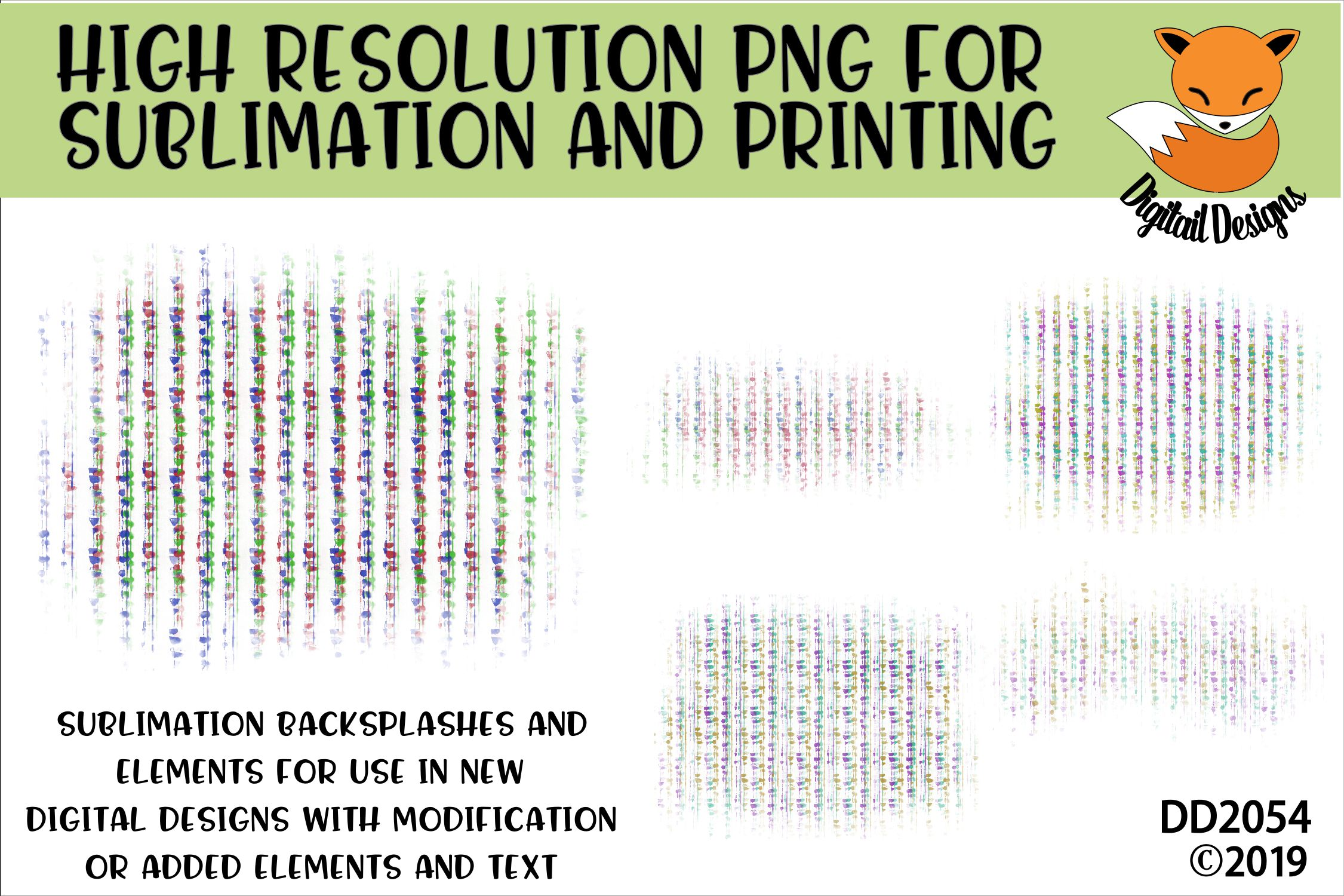 Bead Curtain Sublimation Background Element Bundle example image 1