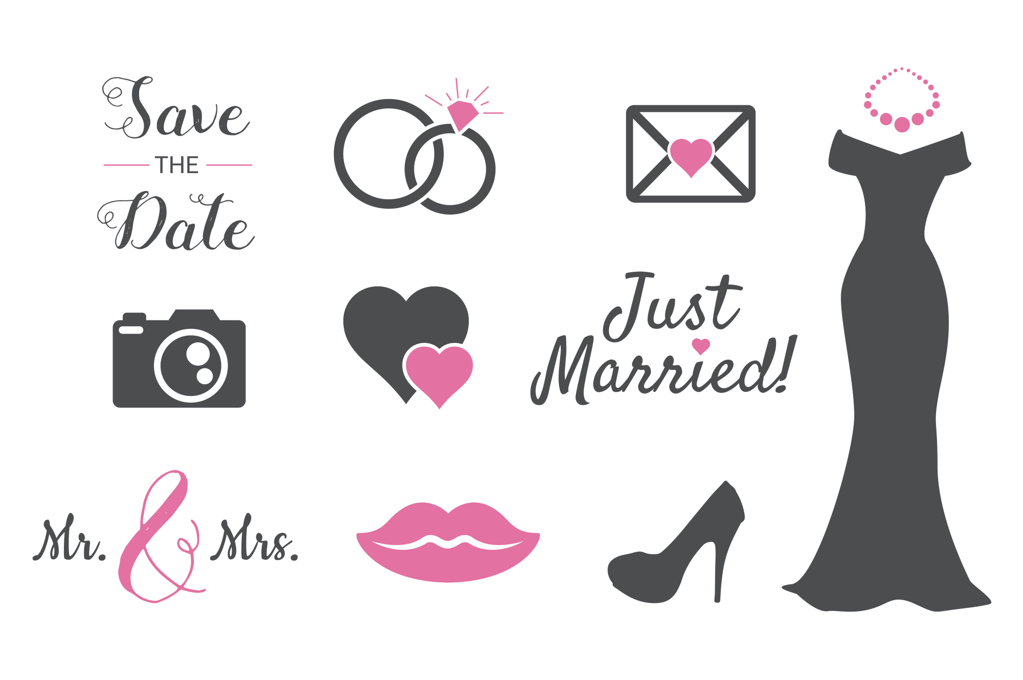 Wedding Silhouettes for Crafters example image 2