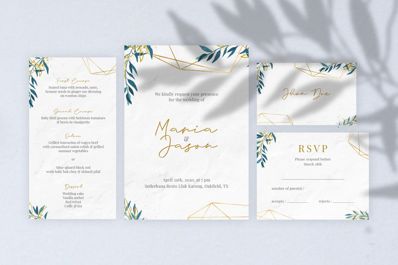 Emola Watercolor Wedding Invitation example image 2