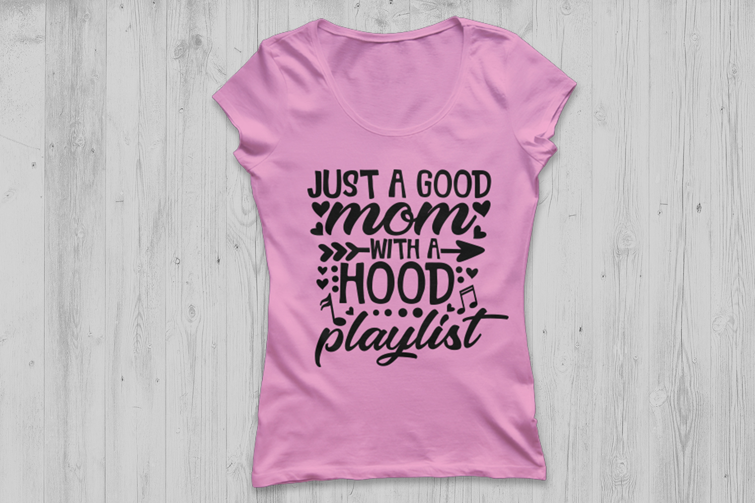Just A Good Mom With A Hood Playlist Svg, Mother's Day Svg. example image 2